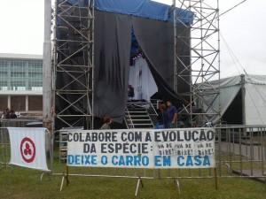 O evento Musicletada ocorreu na Praça Nossa Senhora de Salete, em frente ao Palácio Iguaçu Foto: Giulie Hellen Oliveira de Carvalho