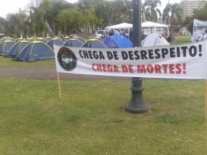 Manifestação reúne agentes de todo o estado Foto: Daniela Leal