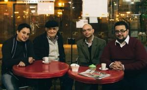 Da esquerda para a direita: Gabriel Carriconde, Luiz Geraldo Mazza, Álvaro Bora e Pedro Giulliano
