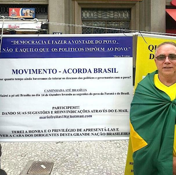 Mario Freitas, o caminhante solitário/ Foto: João Cassiano Tapada