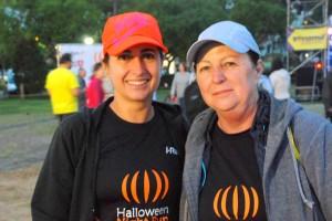 As amigas Conceição e Neiva optaram pelo percurso de 9km  Foto: Lara Pessôa