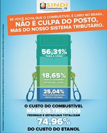 Maior parte do preço dos combustíveis no Brasil é composta por impostos. (Arte: Beatriz Peccin)