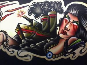As obras do artista encontram-se em exposição no TUC e em estações tubo de Curitiba (Foto: Gilberto Stori Junior)