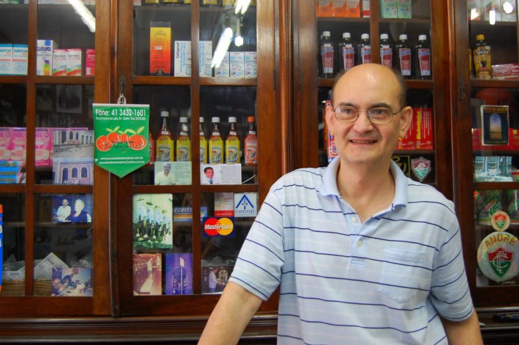 André Luiz Carraro, proprietário da farmácia