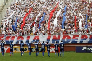 Torcida apoio no jogo contra o Joinville Foto: Divulgação