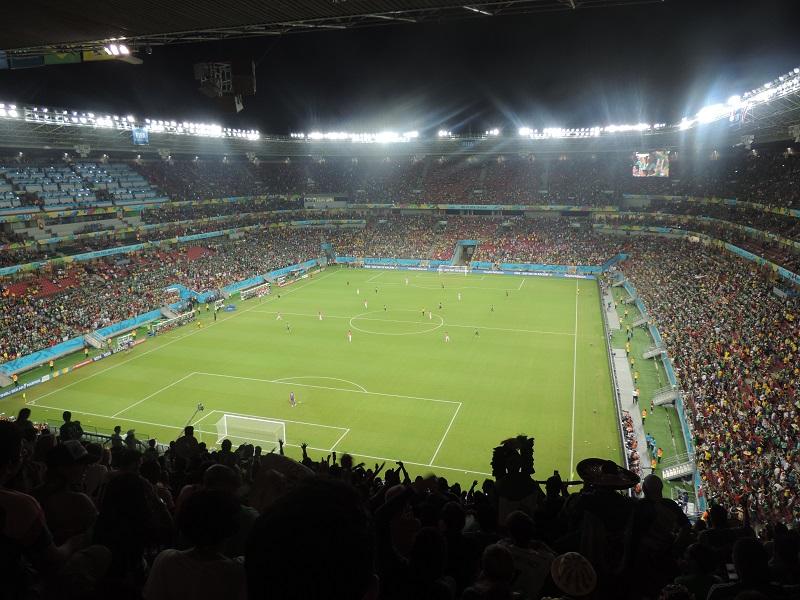 Arena Pernambuco ficou lotada de mexicanos | Foto: Pedro Melo
