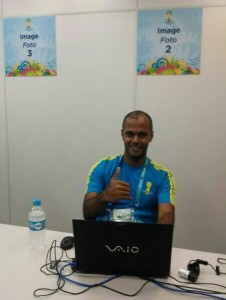 Marcelo Luiz é voluntário na Arena Pernambuco | Foto: Acervo Pessoal Marcelo Luiz