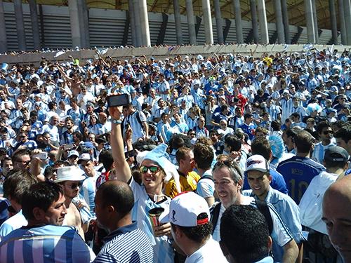 Argentinos tomaram conta do estádio Mané Garrincha, em Brasília | Foto: Renan Araújo