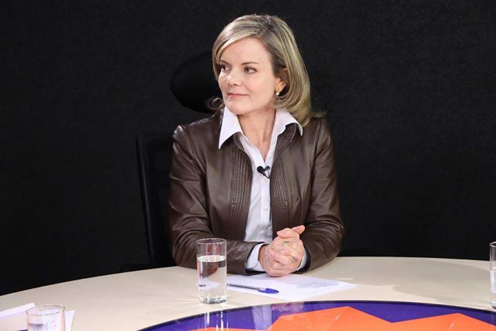 Gleisi Hoffmann, candidata do PT ao governo do Paraná (Imagem: divulgação Rede Mercosul - Record News PR)