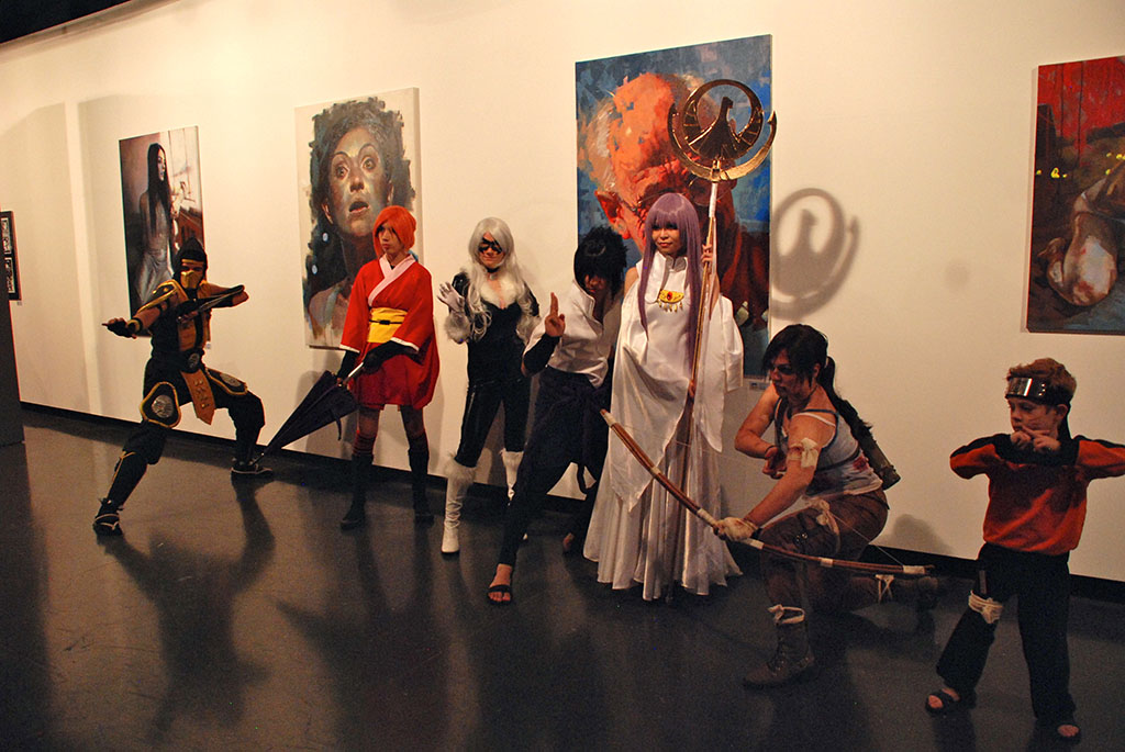 Alunos da Manga Daisuki Dayo se apresenta durante a abertura das exposições | Foto: Carolina Mello