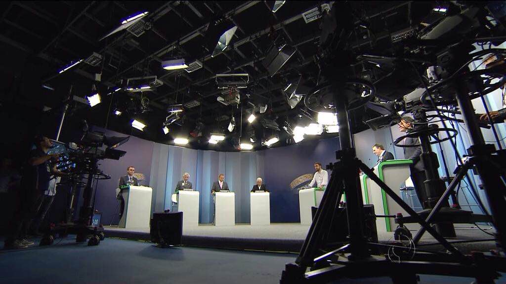 Debate na RPCTV com 7 dos 8 candidatos ao governo do Estado