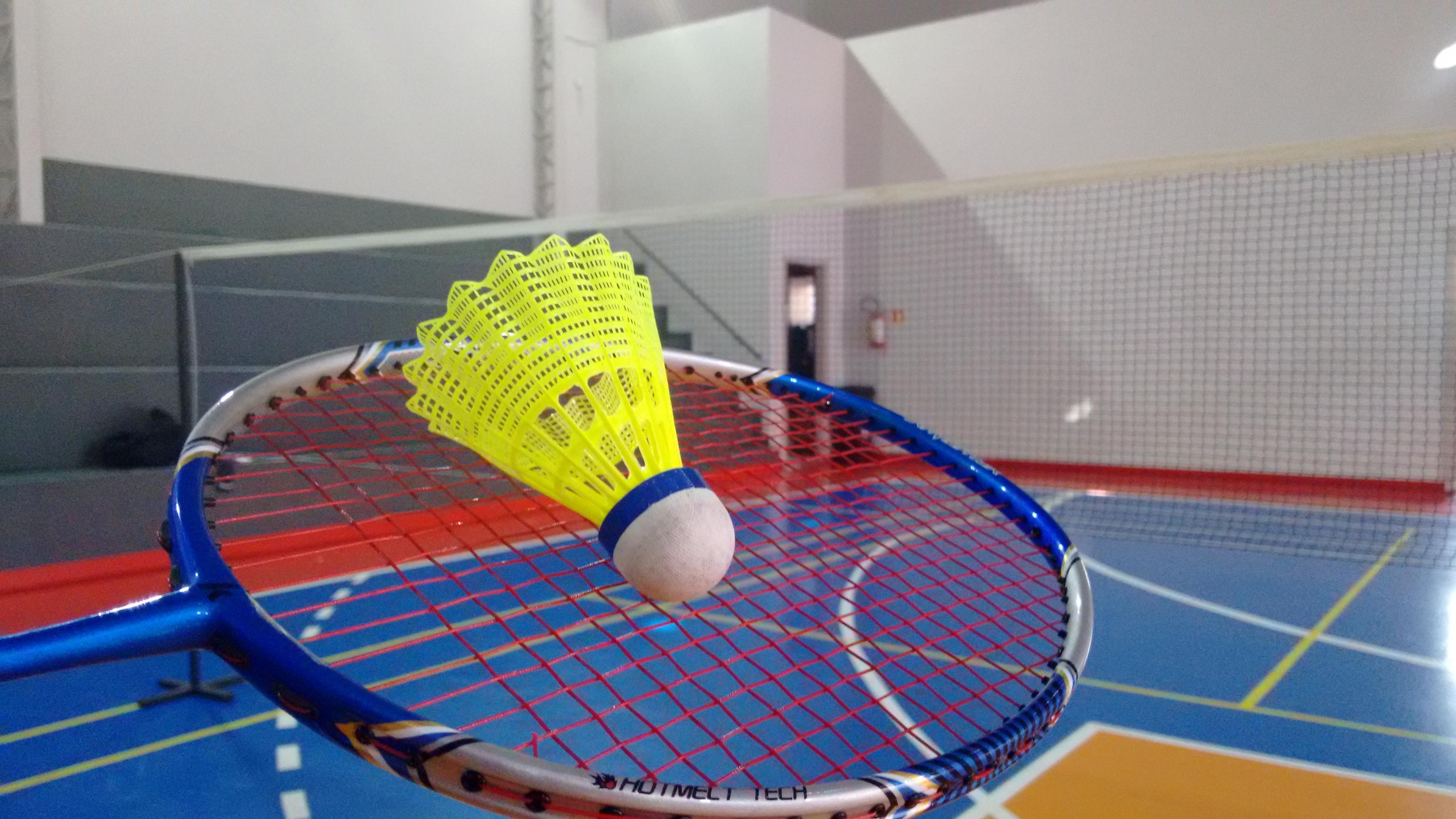 O esporte consiste em um jogo de raquete e petecas
