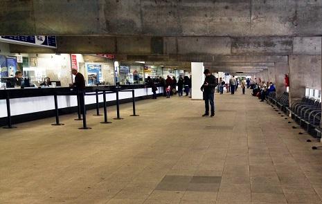 A tranquilidade, como a vista na foto, nem sempre está presente nos corredores da Rodoferroviária (Crédito: Bruna Bonzato/Portal Comunicare)