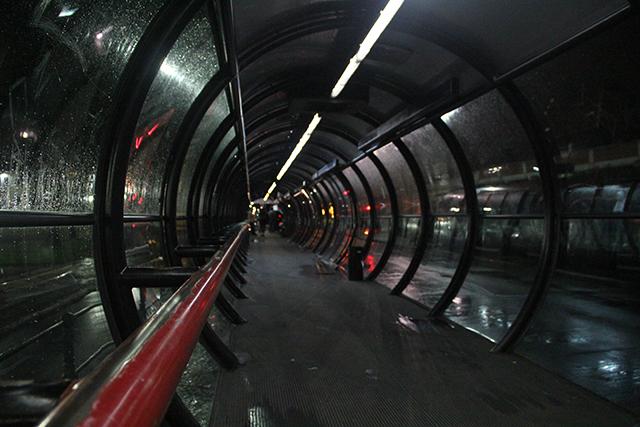 Estação-Tubo durante chuva | Foto: Kevin Cruz