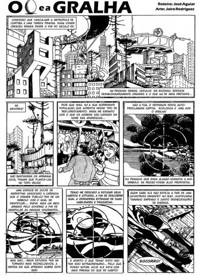Capítulo do quadrinho Gralha | Fonte: Divulgação