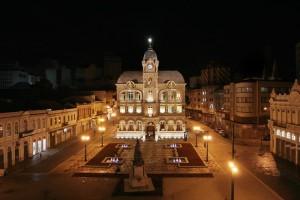 O Paço Municipal é eclético e foi construído em 1916. Possui ornamentação e simbolismo nas fachadas. Crédito: Orlando Kissner/SMCS