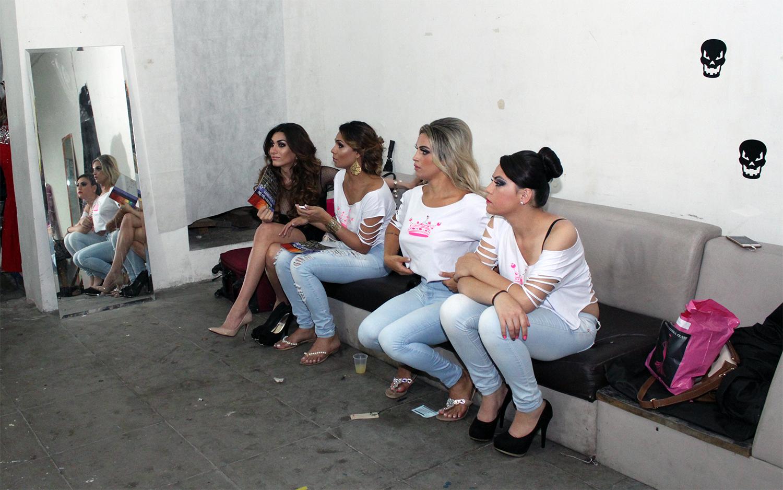 Nos bastidores do Miss Trans (Imagem: Mariana Balan)