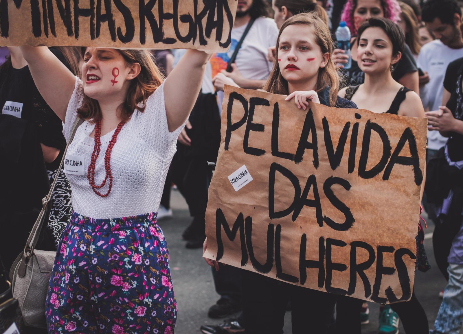 Manifestação feminista em Curitiba 2016. Foto:Stella Prado