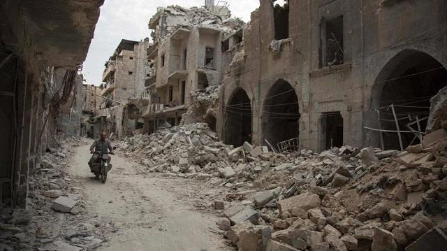 Cidade de Aleppo após anos de confrontos I El Pais