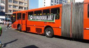 Acontecem manifestações por maior segurança nos coletivos. Foto: Divulgação/Sindimoc